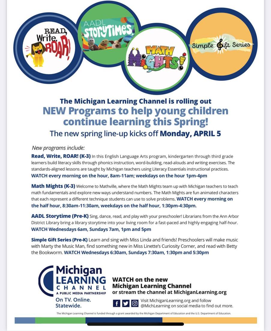MICHIGAN LEARNING CONSORTIUM SUMMER PROGRAMS