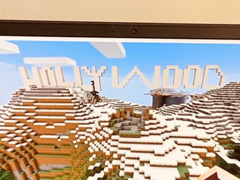 Harlem Mitchell - Hollywood sign-done on Minecraft