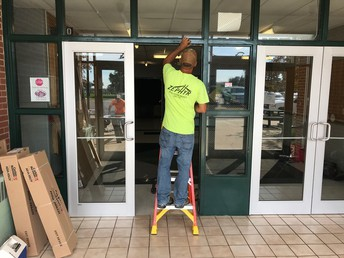 Work Begins on the Doors at CRES