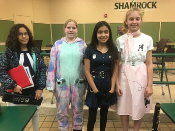 7th graders in costume