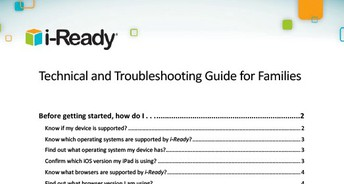 Technical and Troubleshooting Guide for Families