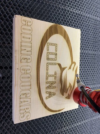 Colina Middle School's Academy of Technology Lab Receives New Laser Engraver