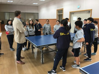 Mr. Cavasin Teaches Table Tennis Serving Skills