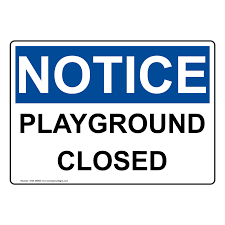 School Playgrounds Still Remain Closed