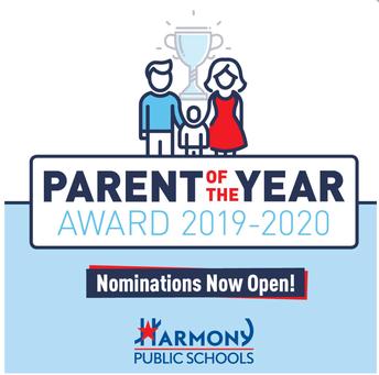 Parent of the Year Award 2019-2020