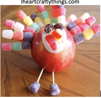 HOW TO MAKE A THANKSGIVING APPLE TURKEY CRAFT