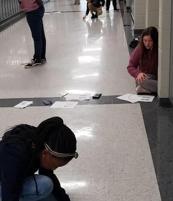 Mrs. Wilson's STEM students were busy practicing elastic energy. #lmmsrocks