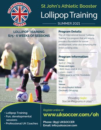 Spring Lollipop Soccer Training