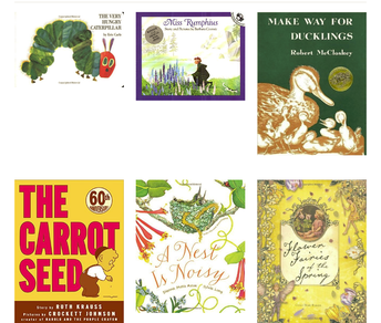 Celebrate all that May Brings: flowers, seeds, gardening, and baby animals!