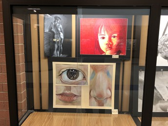 UHS student art work on display in the Commons