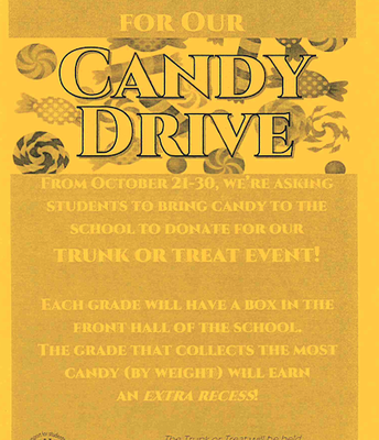 Pioneer is collecting candy for the Trunk or Treat
