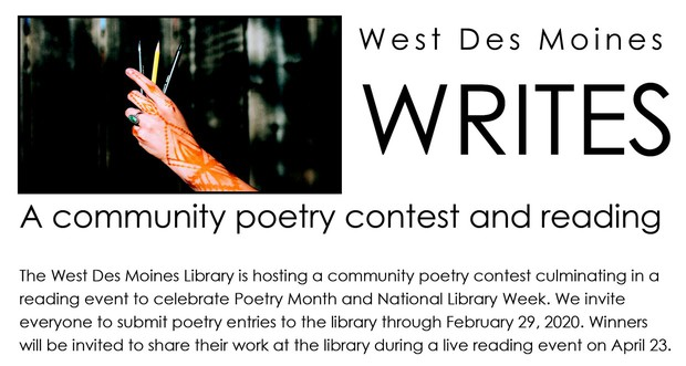 poetry contest promotional graphic