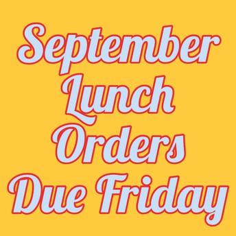 September Lunch Orders