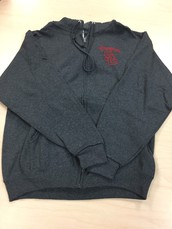 Zip-Up Hoodie-Grey