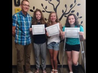 MS Students - Linnea, Katherine, Trinity