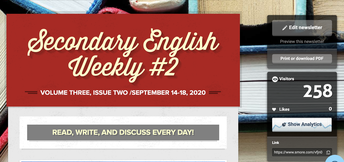 did you miss earlier issues of the secondary english weekly newsletter?
