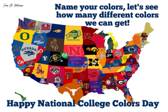 Friday, 9/4, Is National College Colors Day