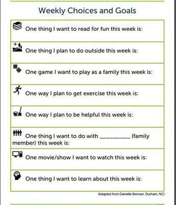 Set weekly or daily goals