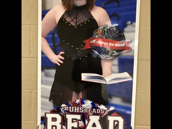 New #UHSREADS posters go up around the building!