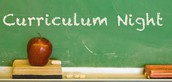 Curriculum Night - August 24th, 5:30-8:00