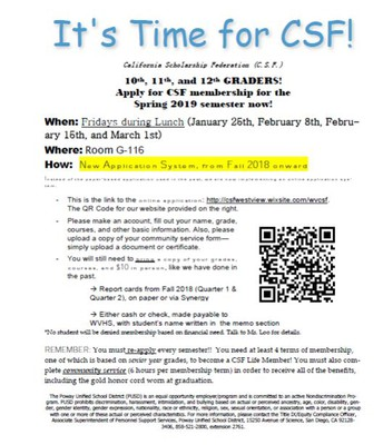 Apply for CSF!
