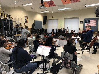 Carver Middle School Orchestra Students