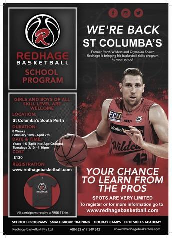 Redhage Basketball at St Columba's Term 1, 2020