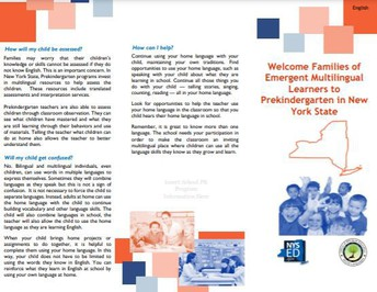 Emergent Multilingual Learners: Parent Brochure on Supporting the Home Language