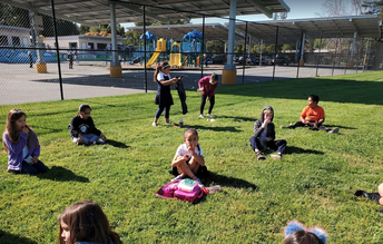 Snack time during Recess at the Field Zone