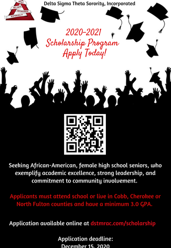 African-American Senior Ladies with a minimum 3.0 GPA-Check out this opportunity!