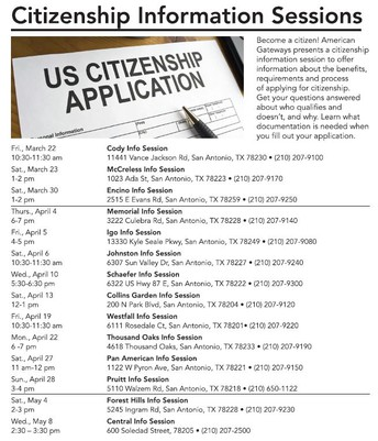 Citizenship Information Sessions