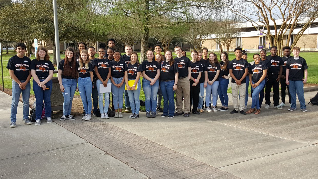 OHS Academic Rally Team 2018 at LSUE  On Saturday, February 24, 2018, thirty-one students from Opelousas High School competed at the District Literary Rally at LSUE. Below is a list of the categories and the student who competed and the UNOFFICIAL results of student placement. Congratulations to all who competed and those students placing first, second and third will move on to compete in the State Rally at LSU on April 21st.  First Place  BCA Christian Carter  English II Lydia Venable  English IV Kassidy Stanford  Journalism I Natalie Hidalgo  Nutrition and Food Jacob Adams  Fine Arts Survey Chandler Stephens  French II Taylor Gauthier  Spanish II Bridget Melancon  Health Destiny Andrus  Calculus Olivia Adams  Environmental Science Quoashae Leday  Government Aaron Jackson  Second Place  Financial Math Bryce Lemon  Biology II Jonathan Weeks  Third Place  Spanish I Courtney Lafontaine  Advanced Math-Pre-Calculus Destiny Lewis  Chemistry Andie Reuther  Civics Nadia Tucker  World Geography Eddie Ramirez  Fourth Place  IBCA Camryn Broussard  English III Keenan Lamb  French I Claire Pitre  Advanced Math-Functions & Statistics Essence Savoy  Biology Avery Artigue  Physical Science Daaim Cummings  Physics Eric Wilson  Fifth Place  Algebra I Hayden Miller  Algebra II SueAnn Skipper  Geometry Amy Ellis  World History Ahraf Swati