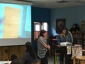 Mrs. J. Garcia & Mrs. Cindy Gonzalez present strategies.