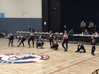 JH Dance Team Performs at Half-time.