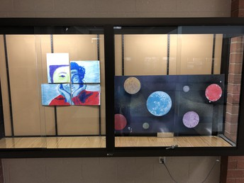 UHS 2D art and studio projects on display