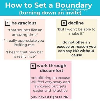 How to Set a Boundary