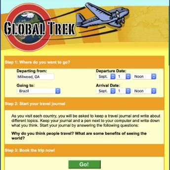 Scholastic Global Trek website screenshot