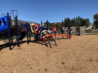 The students love the new playground structure!