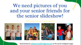 Get your photo in the Senior Slideshow!