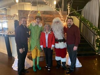 Fine Arts Admin with Buddy & Santa