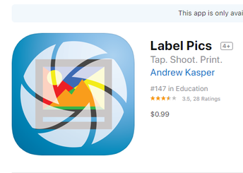 Label Pics app