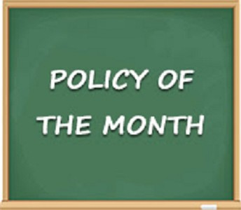 POLICY OF THE MONTH