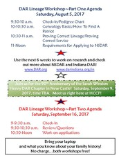 Workshop Agenda for Parts One and Two