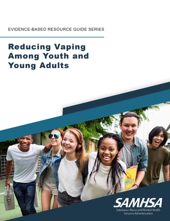 Title image: Reducing Vaping Among Youth & Young Adults. Image of kids smiling and laughing together.