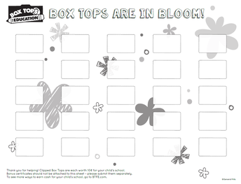 Example #3 of a Box Tops for Education Collection Sheet