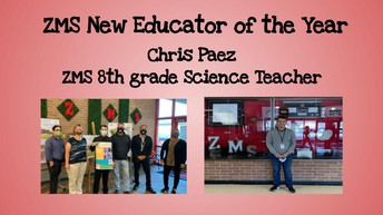 Mr. Paez - First Year Zachry Educator of the Year