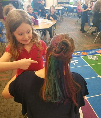 Choose Mrs. Fleshman's hair color raffle
