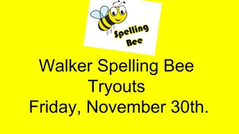 Any 3rd, 4th, or 5th grade student will be able to take a spelling test on Friday if they choose.