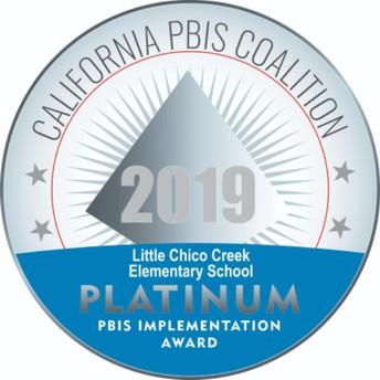 LCC's PBIS Program is PLATINUM!
