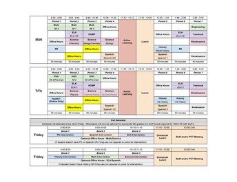 Schedules & more...